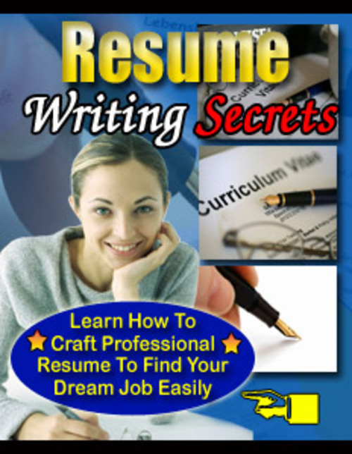 Product picture Resume Writing Secrets-How to write a resume that generates